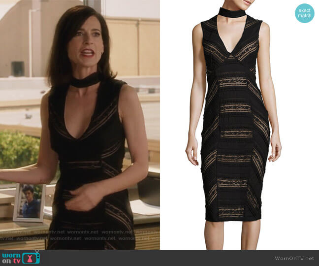 Kora Lace Choker Dress by Cinq a Sept worn by Nina Devon (Perrey Reeves) on Famous in Love