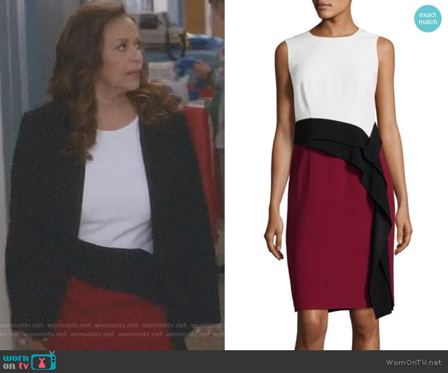 'Disalana' Color-Block Dress by Boss worn by Catherine Avery (Debbie Allen) on Greys Anatomy
