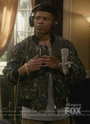 Hakeem's floral print bomber jacket on Empire