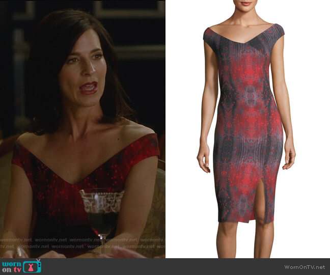Irene Dress by Chiara Boni La Petite Robe worn by Perrey Reeves on Famous in Love