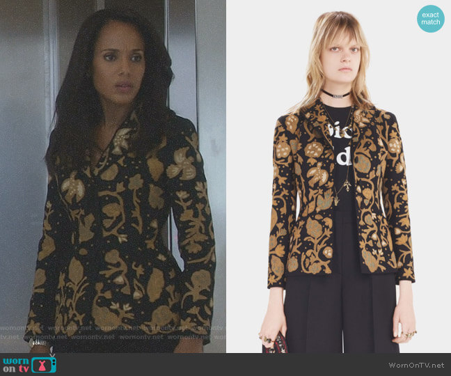Jacket by Chiristian Dior - Pre Fall 2017 Collection worn by Kerry Washington on Scandal