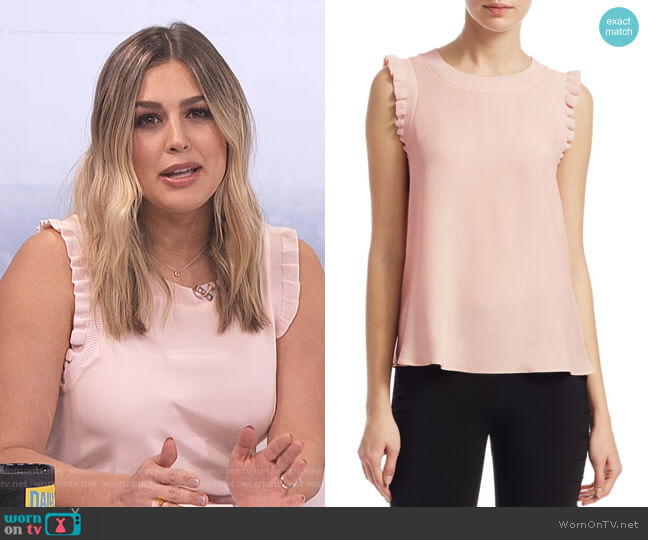 Tous Les Jours Lenore Silk Tank by Cinq a Sept worn by Carissa Loethen Culiner  on E! News