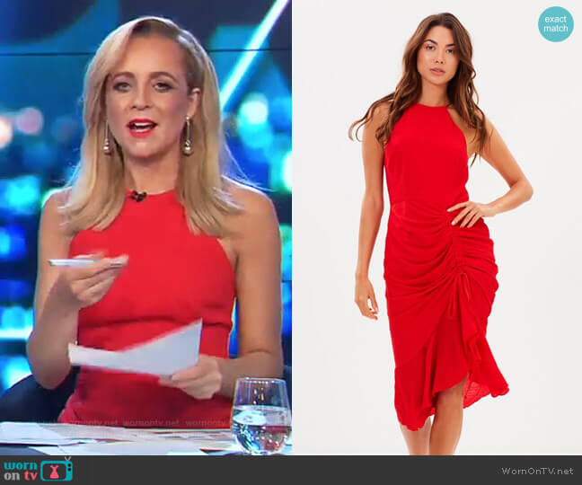 Ti Amo Drape Dress by Cooper St worn by Carrie Bickmore  on The Project