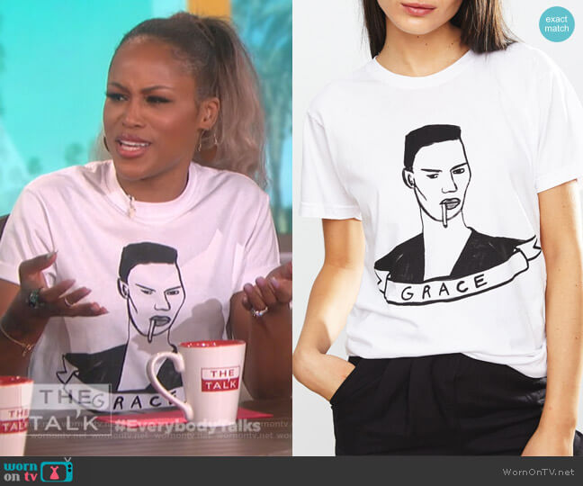 Grace t-shirt by DeerDana worn by Eve  on The Talk
