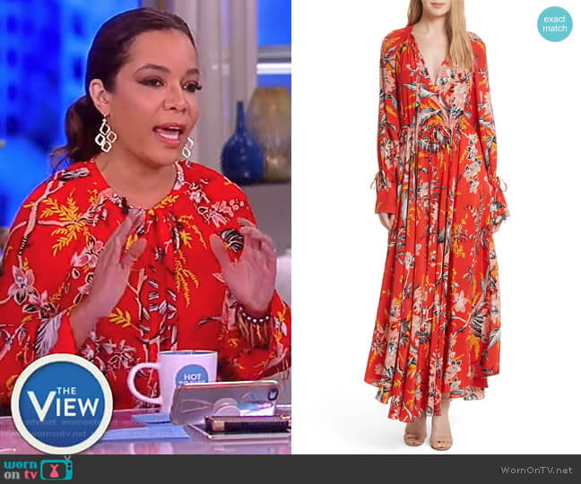 Bethany Dress by Diane von Furstenberg worn by Sunny Hostin (Sunny Hostin) on The View