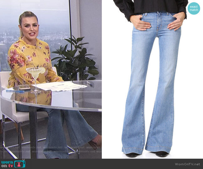Noha Mid Rise Sexy Flare Jeans by Derek Lam 10 Crosby worn by Carissa Loethen Culiner  on E! News