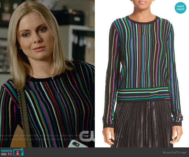 Diane von Furstenberg Arisha Sweater worn by Liv Moore (Rose McIver) on iZombie