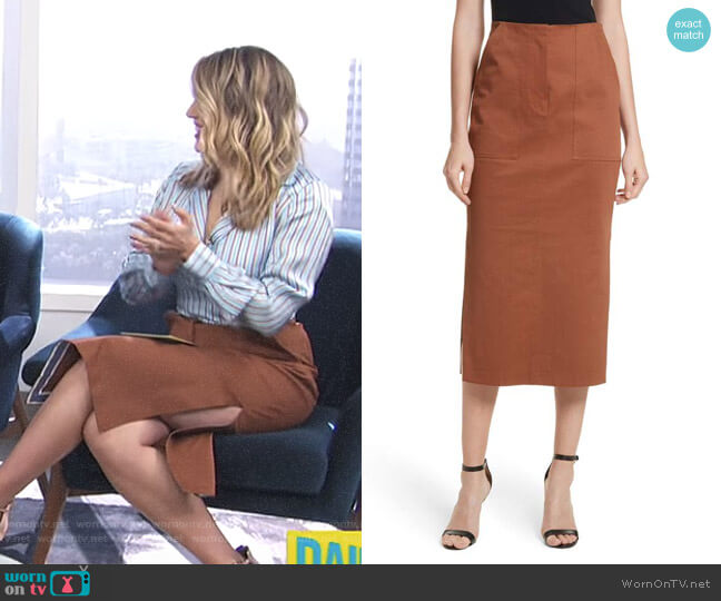 Midi Twill Pencil Skirt by Diane von Furstenberg worn by Carissa Loethen Culiner on E! News