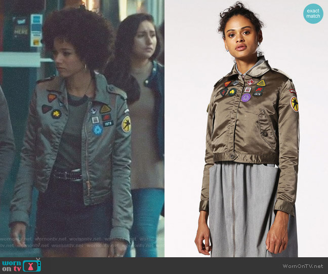 G-Seto Jacket by Diesel  worn by Alisha Wainwright  on Shadowhunters