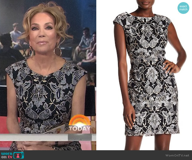 Embroidered Cap Sleeve Dress by Donna Ricco worn by Kathie Lee Gifford  on Today