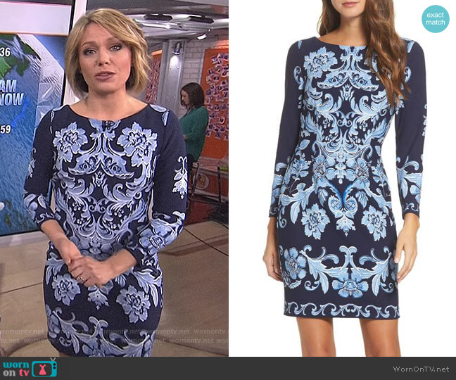 Crepe Sheath Dress by Eliza J worn by Dylan Dreyer on Today