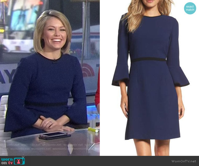 Fit & Flare Dress by Eliza J worn by Dylan Dreyer on Today