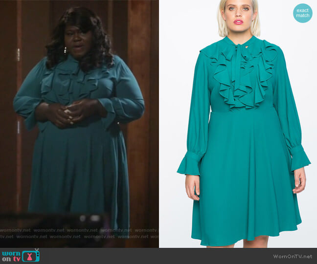 Tie Front Dress by Eloquii worn by Gabourey Sidibe on Empire