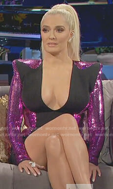 Erika's pink sequin plunging dress on The Real Housewives of Beverly Hills