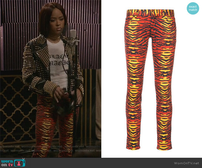 Tiger Print Skinny Jeans by Faith Connexion worn by Tiana Brown (Serayah McNeill) on Empire