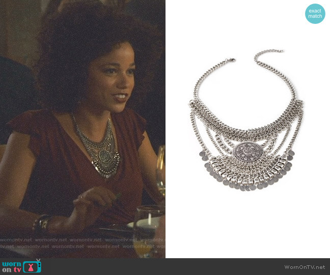 Coin Fringe Pendant Necklace by Forever 21 worn by Maia Roberts (Alisha Wainwright ) on Shadowhunters
