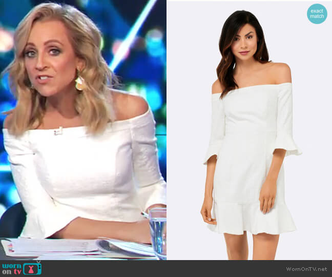 Bella Bardot Flippy Hem Dress by Forever New worn by Carrie Bickmore  on The Project