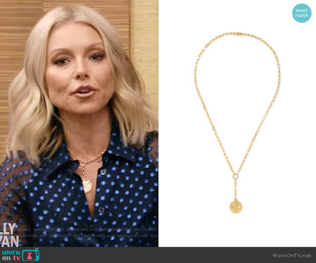 'Karma' Necklace by Foundrae worn by Kelly Ripa on Live with Kelly & Ryan