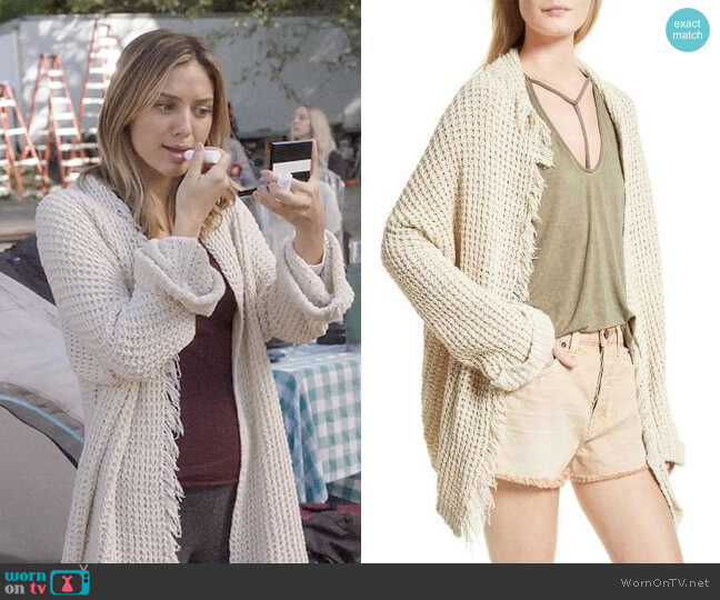 Free People I'll Be Around Cardigan worn by Christine Evangelista on The Arrangement