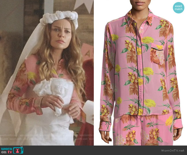 'Marceau' Shirt by Ganni worn by Chloe Decker (Lauren German) on Lucifer