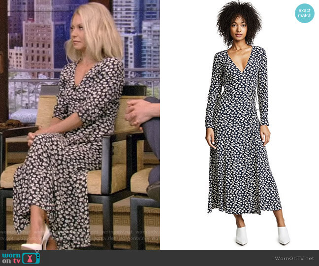 'Roseburg' Dress by Ganni worn by Kelly Ripa  on Live with Kelly & Ryan