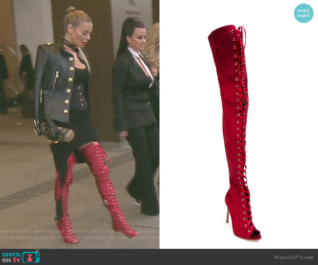 'Marie' Over-The-Knee Boots by Gianvito Rossi worn by Dorit Kemsley on The Real Housewives of Beverly Hills