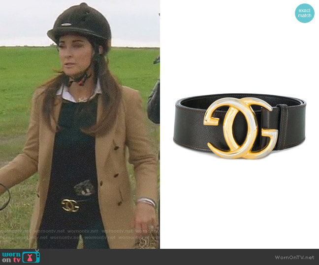 Interlocking GG Belt by Gucci worn by Kyle Richards on The Real Housewives of Beverly Hills