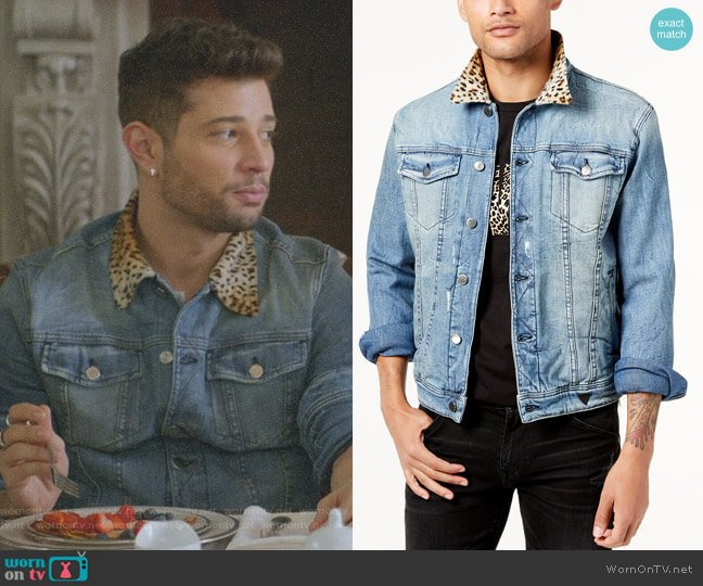 All or Nothing Denim Jacket by Guess  worn by Rafael de la Fuente on Dynasty