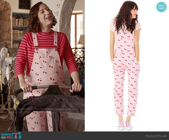 Ban.do Cherry Overalls worn by Kristen Schaal on Last Man On Earth