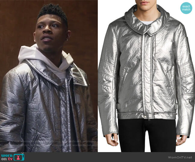 Astro Moto Jacket by Helmut Lang worn by Bryshere Y. Gray on Empire