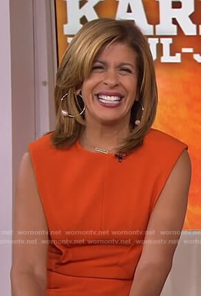 Hoda's orange dress on Today