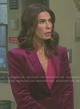Hope's purple velvet blazer on Days of our Lives
