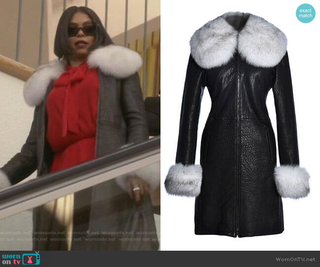 Angelique Coat by Hysideis worn by Taraji P. Henson on Empire