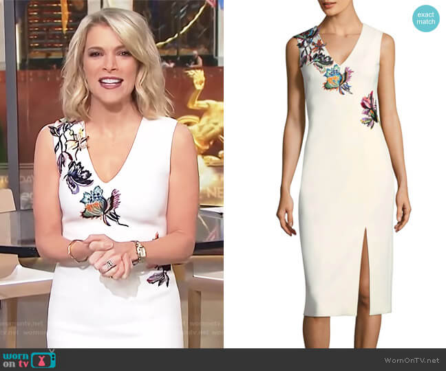Embroidered V-Neck Dress by Jason Wu worn by Megyn Kelly  on Today