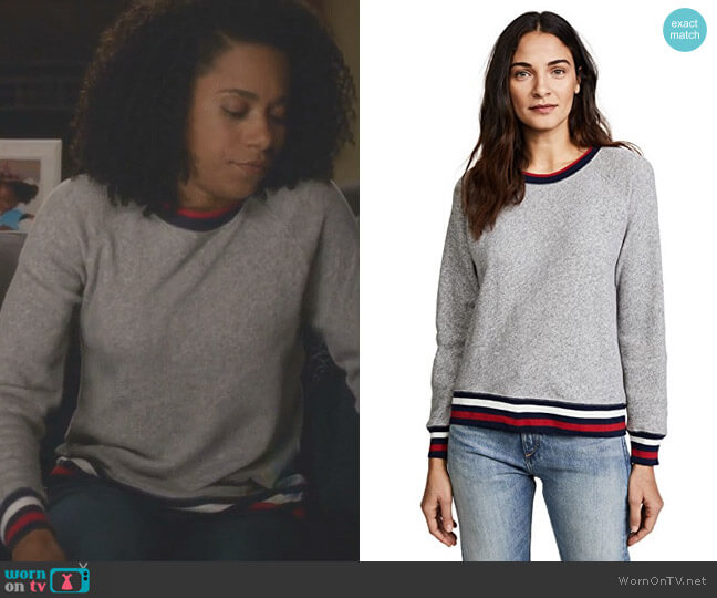 Richardine B Sweatshirt by Joie worn by Kelly McCreary on Greys Anatomy