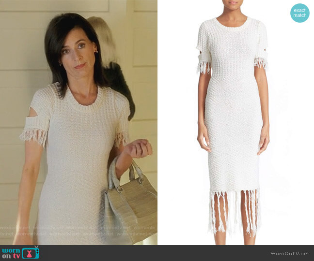 Cotton & Linen Knit Dress by Jonathan Simkhai worn by Perrey Reeves on Famous in Love