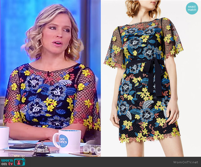 Laser-Cut Floral Dress by Karen Millen worn by Sara Haines on The View