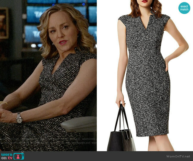 Karen Millen  Tweed Sheath Dress worn by Marissa Morgan (Geneva Carr) on Bull