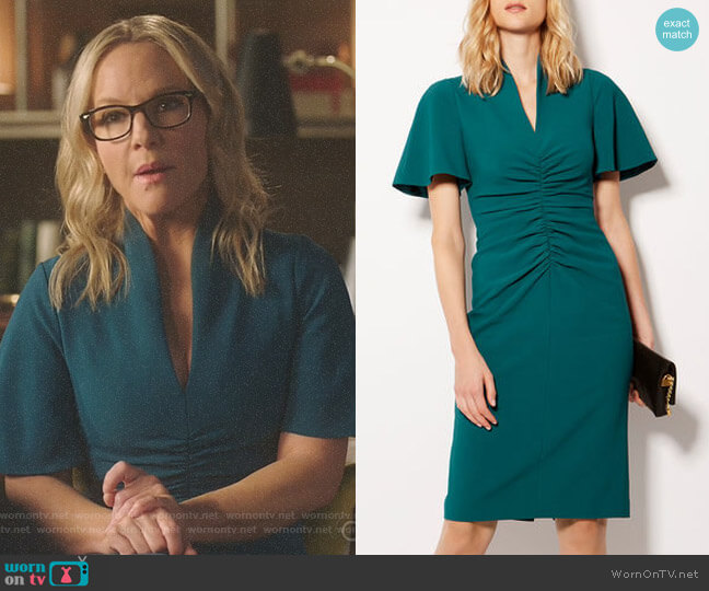 V-Neck Pencil Dress by Karen Millen worn by Rachael Harris on Lucifer