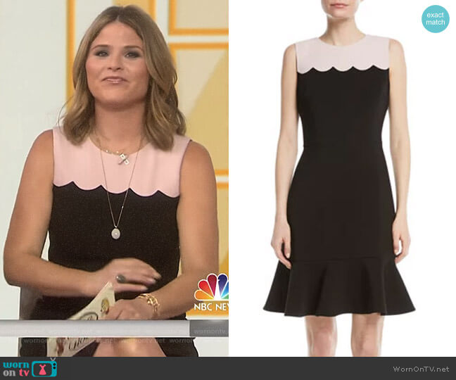Scallop Sleeveless Dress by Kate Spade worn by Jenna Bush Hager on Today