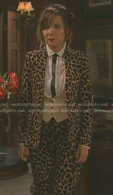 Kate's leopard suit on Days of our Lives