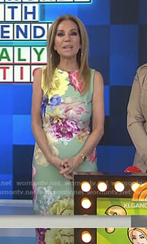 Kathie's green floral sheath dress on Today