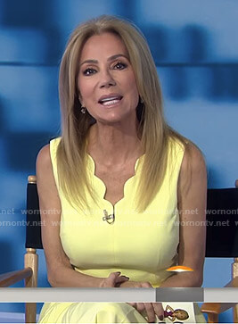 Kathie's yellow scalloped dress on Today