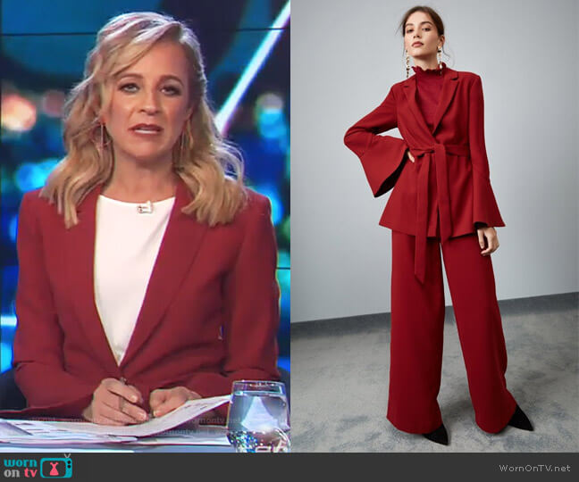 Wildfire Blazer by Keepsake worn by Carrie Bickmore  on The Project