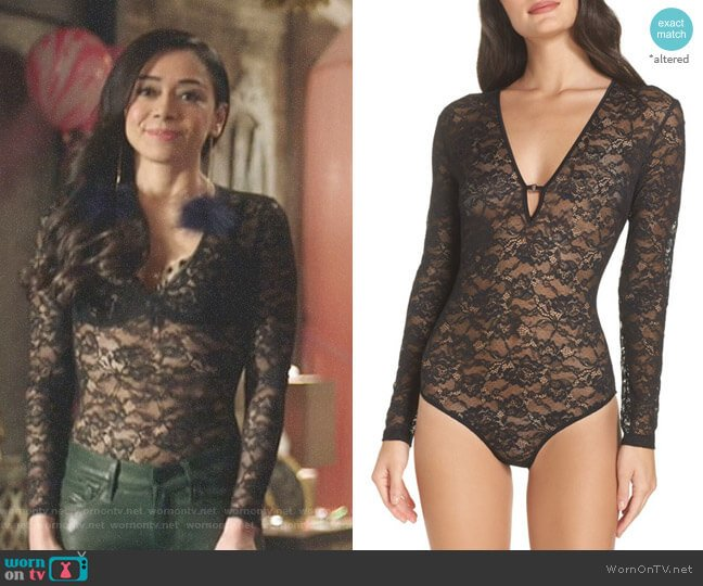 Lace Bodysuit by Kendall & Kylie worn by Aimee Garcia on Lucifer