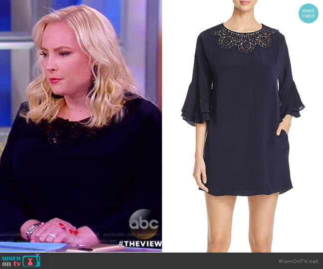 Fatima Flounce Sleeve Dress by Kobi Halperin worn by Meghan McCain  on The View