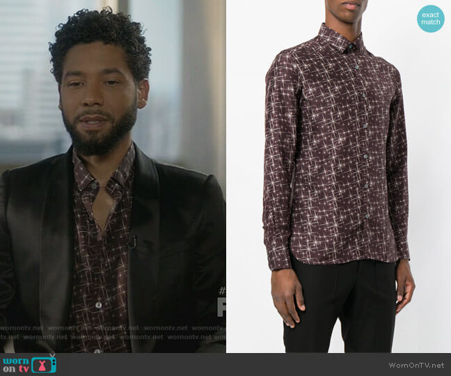 Star Print Shirt by Lanvin worn by Jussie Smollett on Empire