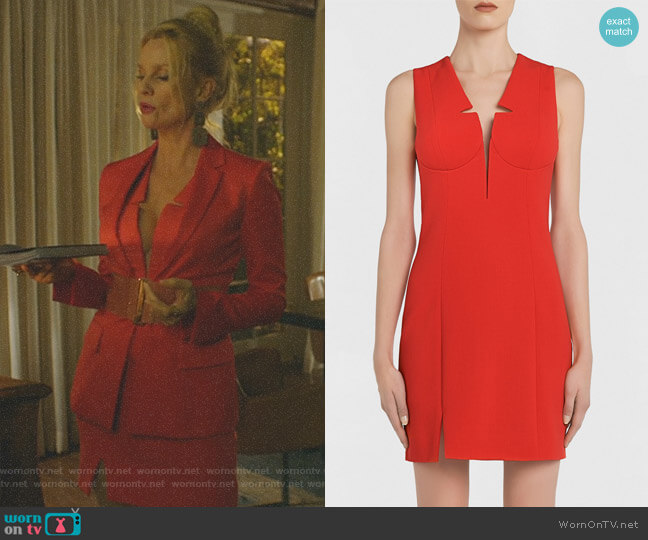 Short Sheath Dress with Built-In Bra by La Perla worn by Nicollette Sheridan on Dynasty