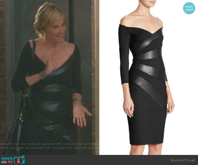 'Kaliska' Dress by Chiara Boni La Petite Robe worn by Eve Donovan (Kassie DePaiva) on Days of our Lives