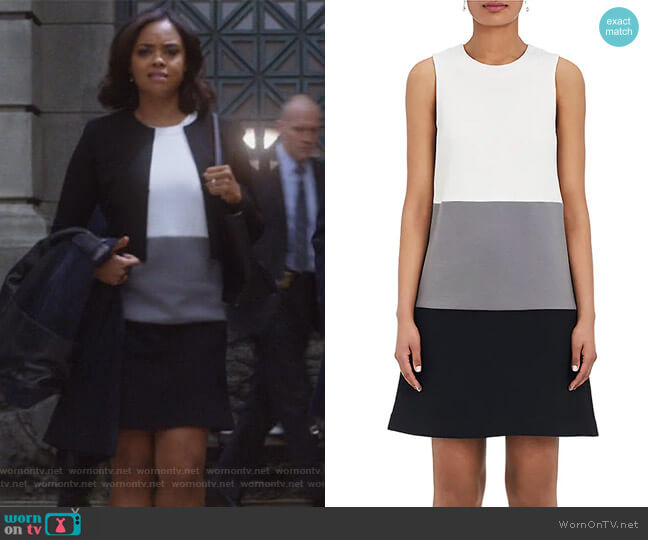 Colorblocked Cotton-Blend Dress by Lisa Perry worn by Sharon Leal on Instinct